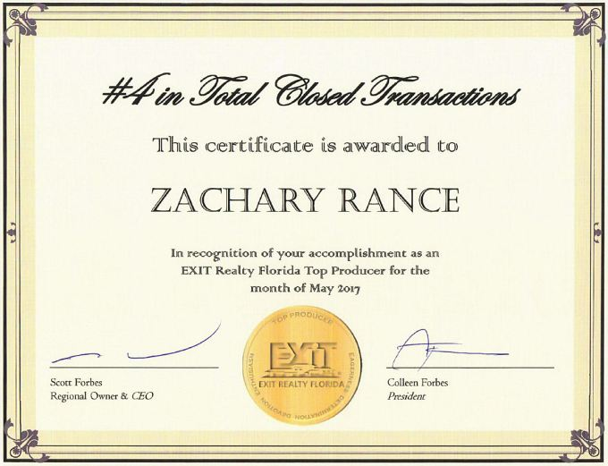 Award #4 in Total Closed Transactions